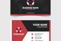 Corporate Double-Sided Business Card Template with Double Sided Business Card Template Illustrator