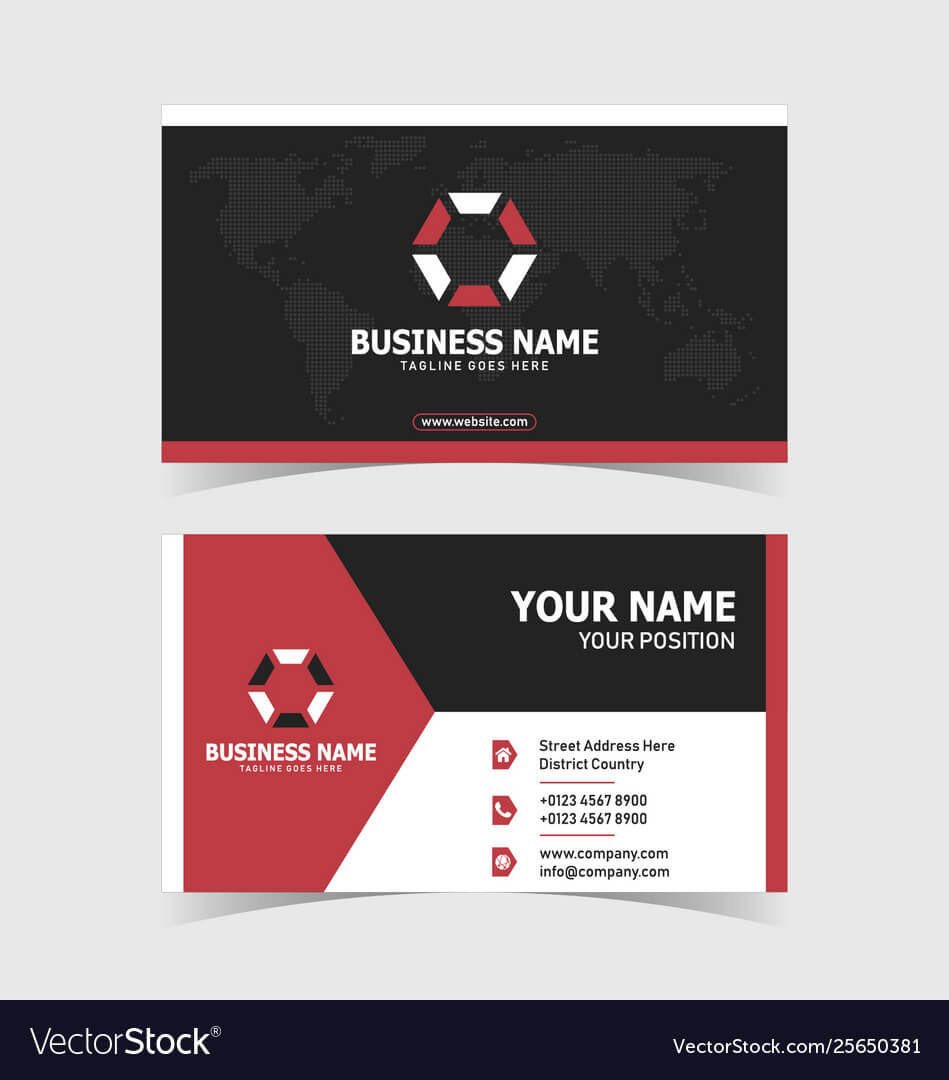 Corporate Double Sided Business Card Template With Double Sided Business Card Template Illustrator