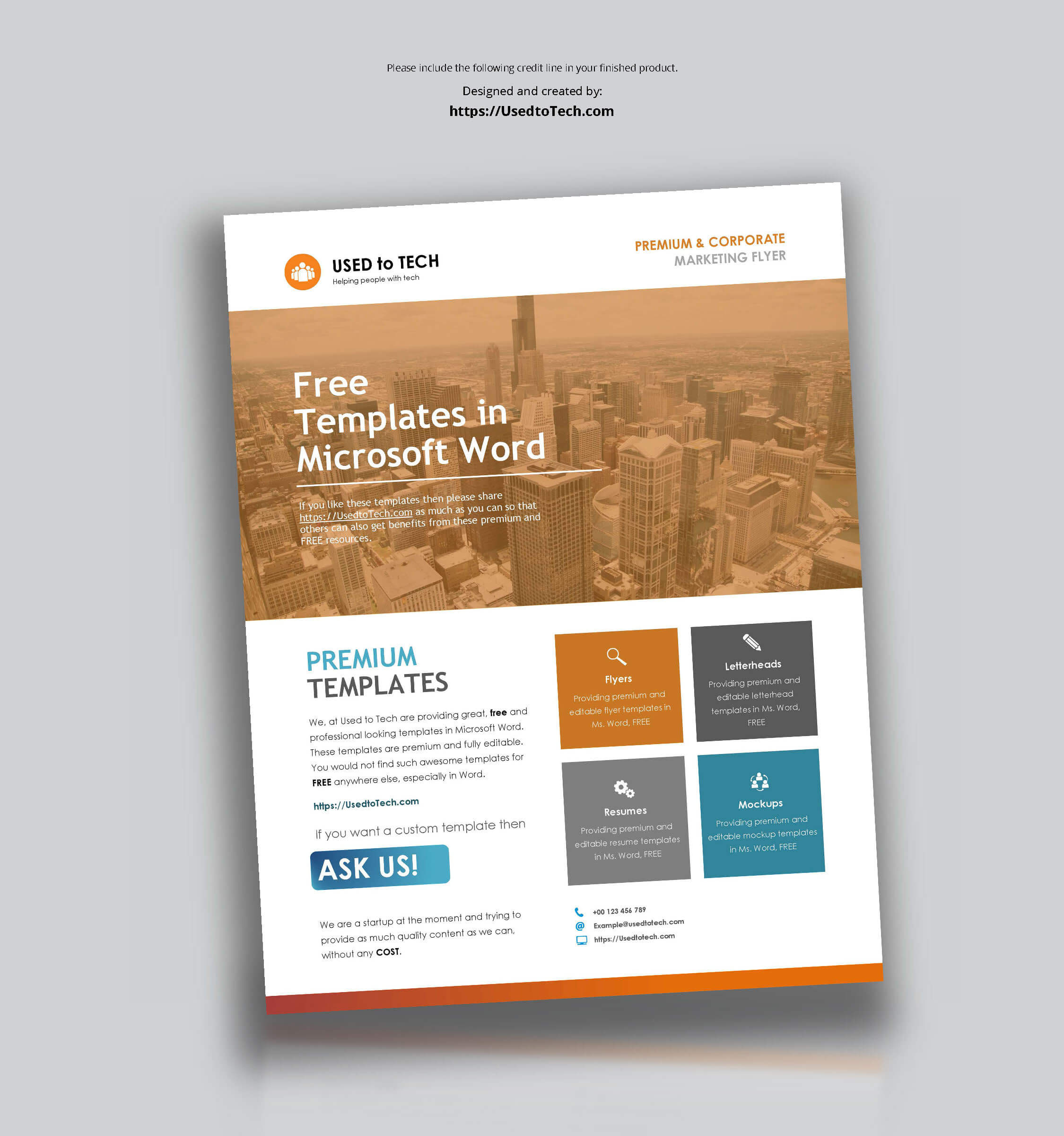 Corporate Flyer Design In Microsoft Word Free - Used To Tech Intended For Templates For Flyers In Word