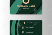 Corporate Id Card Design Template. Personal Id Card For Business.. intended for Personal Identification Card Template