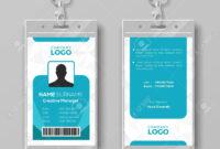 Corporate Id Card Design Template pertaining to Company Id Card Design Template