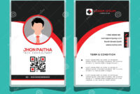 Corporate Id Card Design Template Stock Vector intended for Personal Identification Card Template