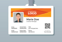 Corporate Id Card Template With Modern Abstract inside Work Id Card Template