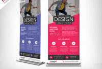Corporate Outdoor Roll-Up Banner Free Psd | Psdfreebies regarding Outdoor Banner Design Templates