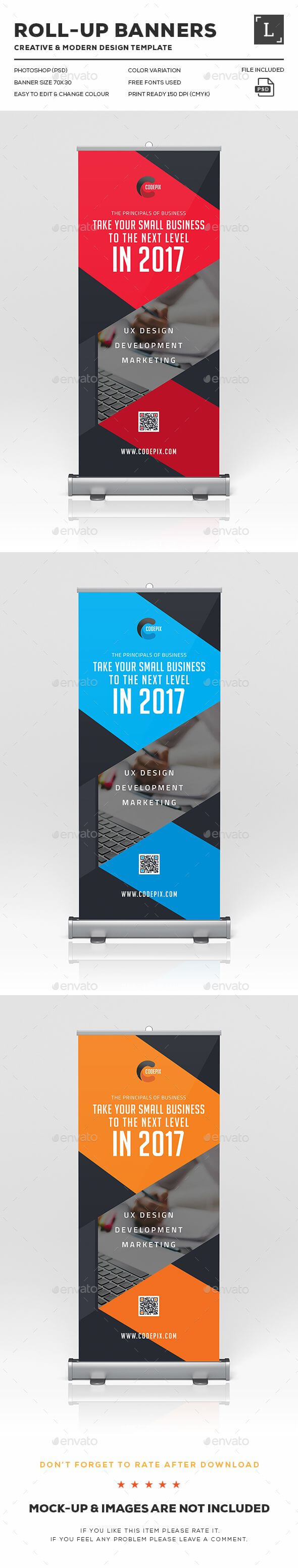 Corporate Roll-Up Banner Design Template - Signage Print regarding Outdoor Banner Design Templates