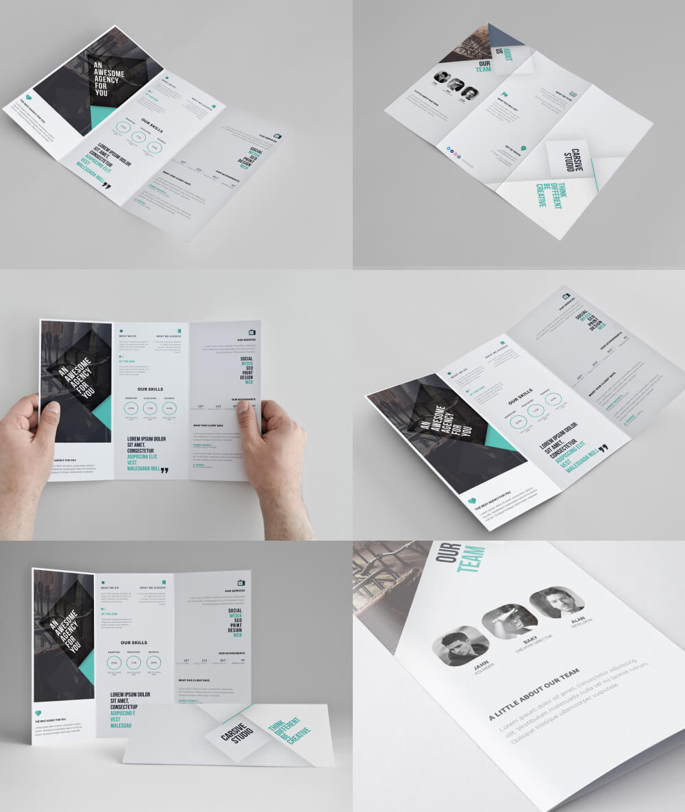 Corporate Tri-Fold Brochure Template Free Psd - Download Psd with regard to 3 Fold Brochure Template Psd Free Download