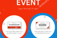 Coupon Event Banner Template Stock Vector (Royalty Free throughout Event Banner Template