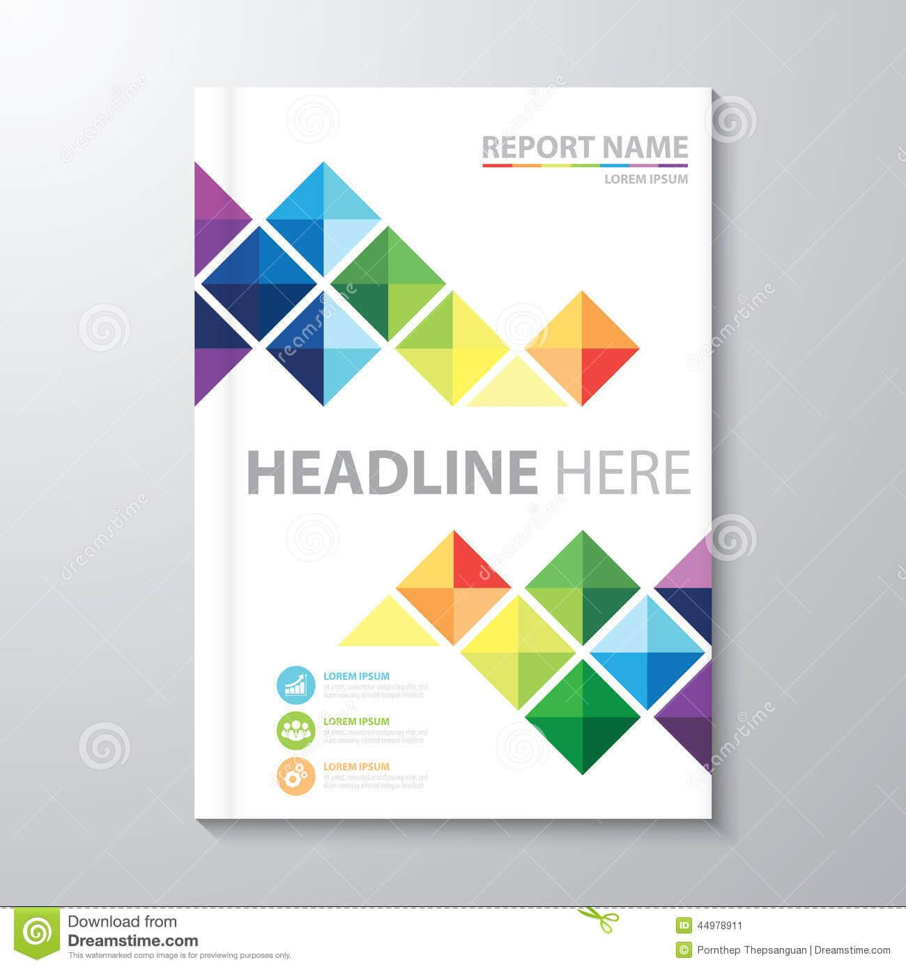 Cover Annual Report Stock Vector. Illustration Of Artwork within Cover Page Of Report Template In Word