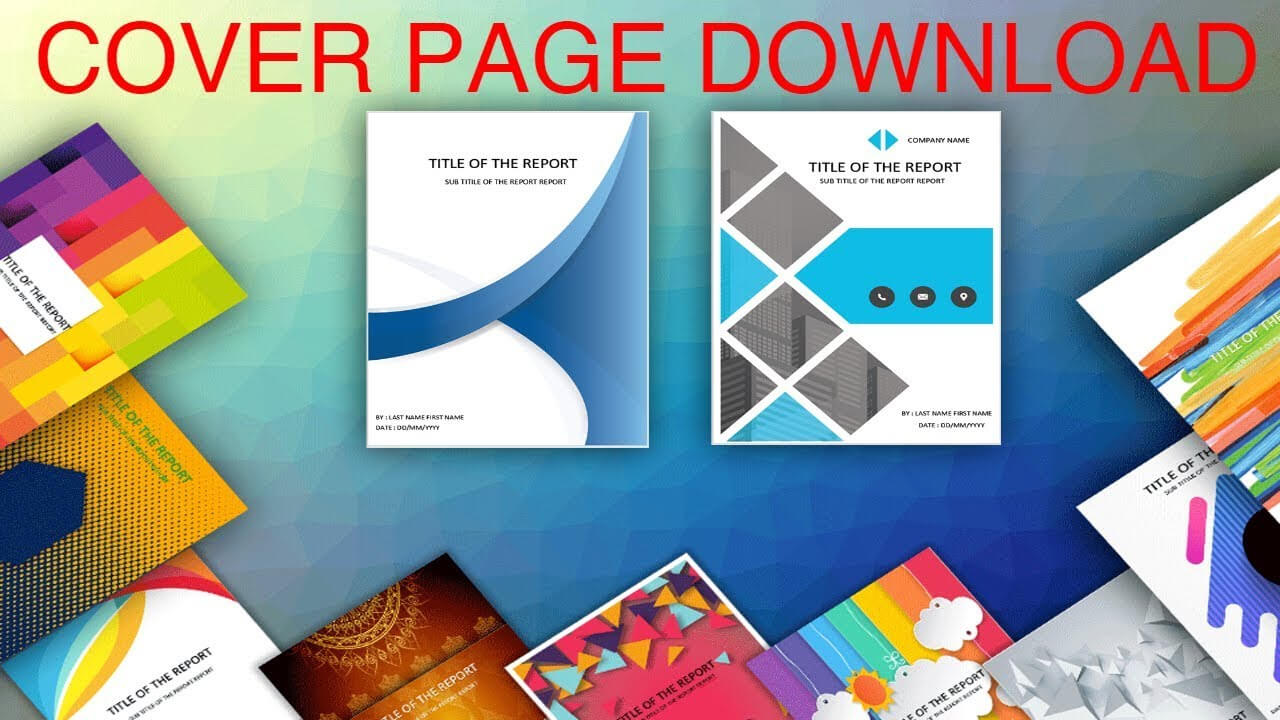 Cover Page In Word Template - Download Editable, Ready To regarding Cover Page Of Report Template In Word