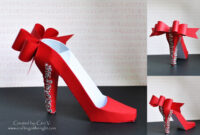 Crafting In The Night: 3D High Heel Shoe – Svgcuts in High Heel Shoe Template For Card