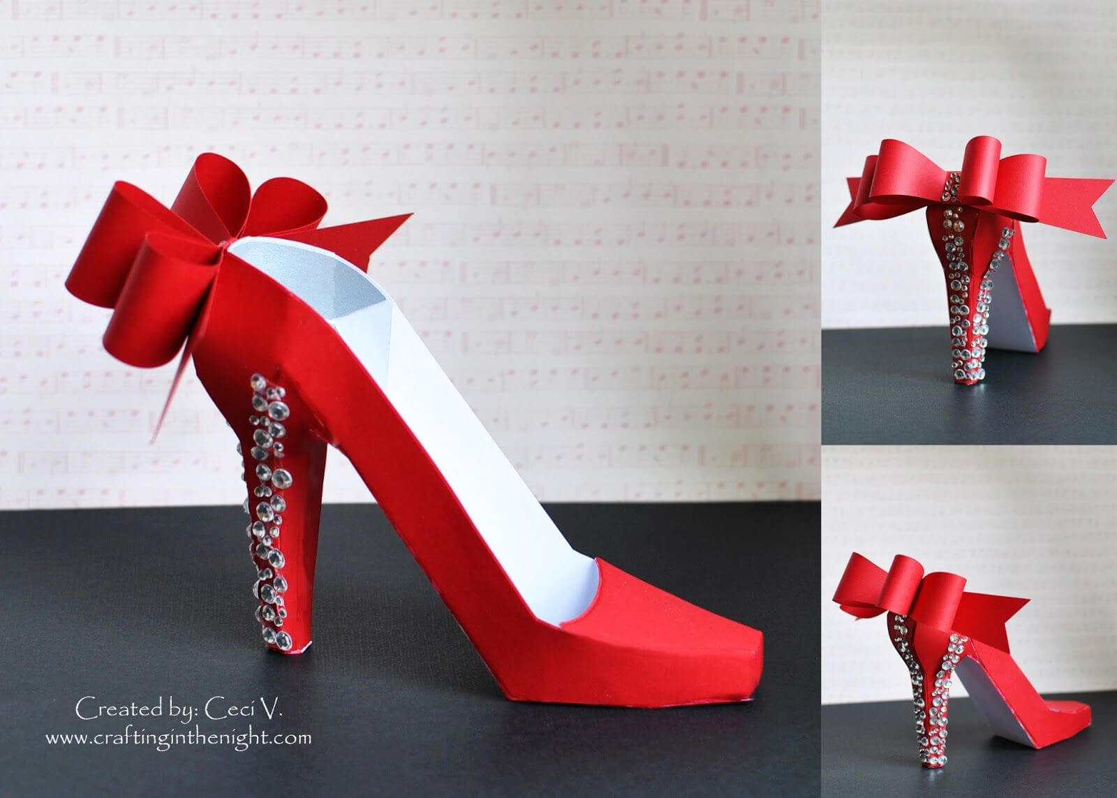 Crafting In The Night: 3D High Heel Shoe - Svgcuts in High Heel Shoe Template For Card
