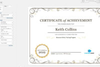 Create A Certificate Of Recognition In Microsoft Word With Microsoft Office Certificate Templates Free