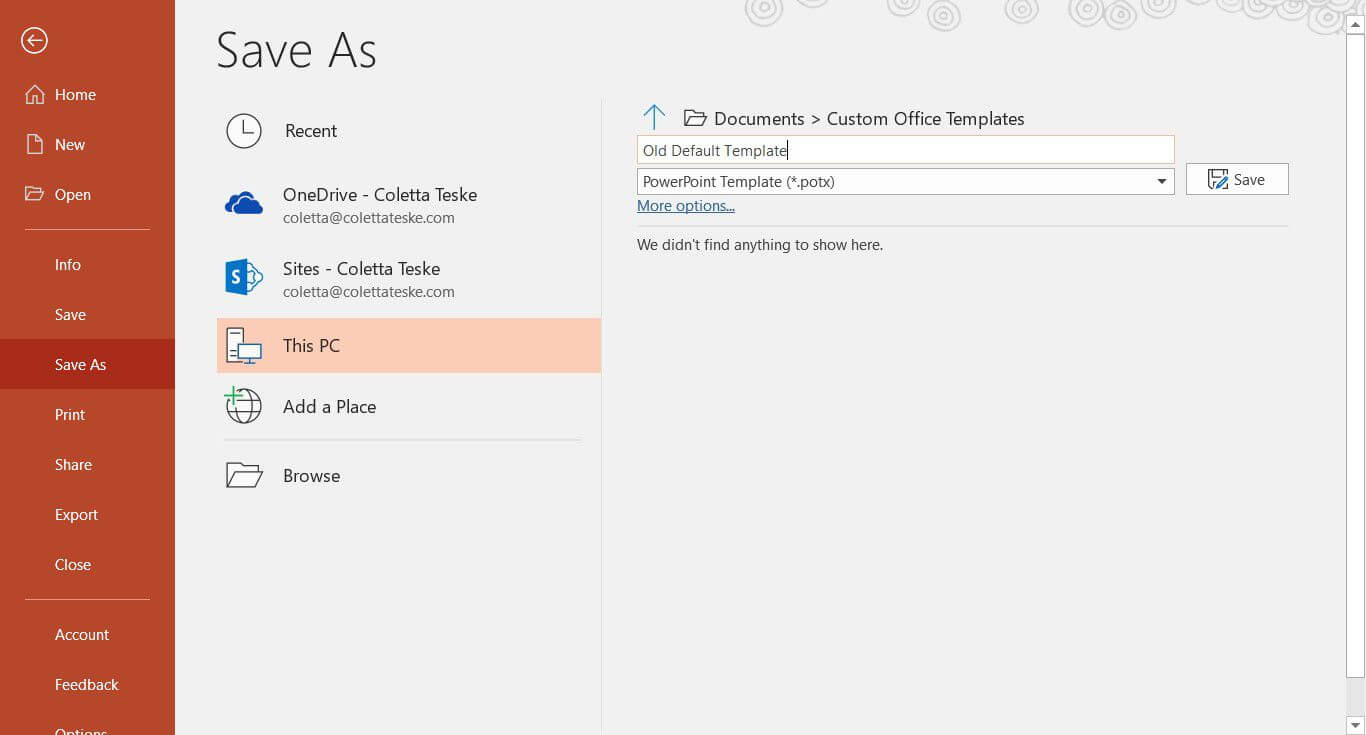 Create A Default Powerpoint Presentation Template pertaining to How To Save A Powerpoint Template
