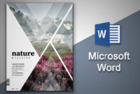 Create Cover Page In Microsoft Word | Natural Magazine Cover Designing In  Ms Word inside Magazine Template For Microsoft Word