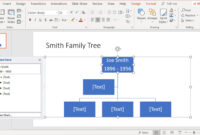 Create Family Trees Using Powerpoint Organization Chart for Powerpoint Genealogy Template
