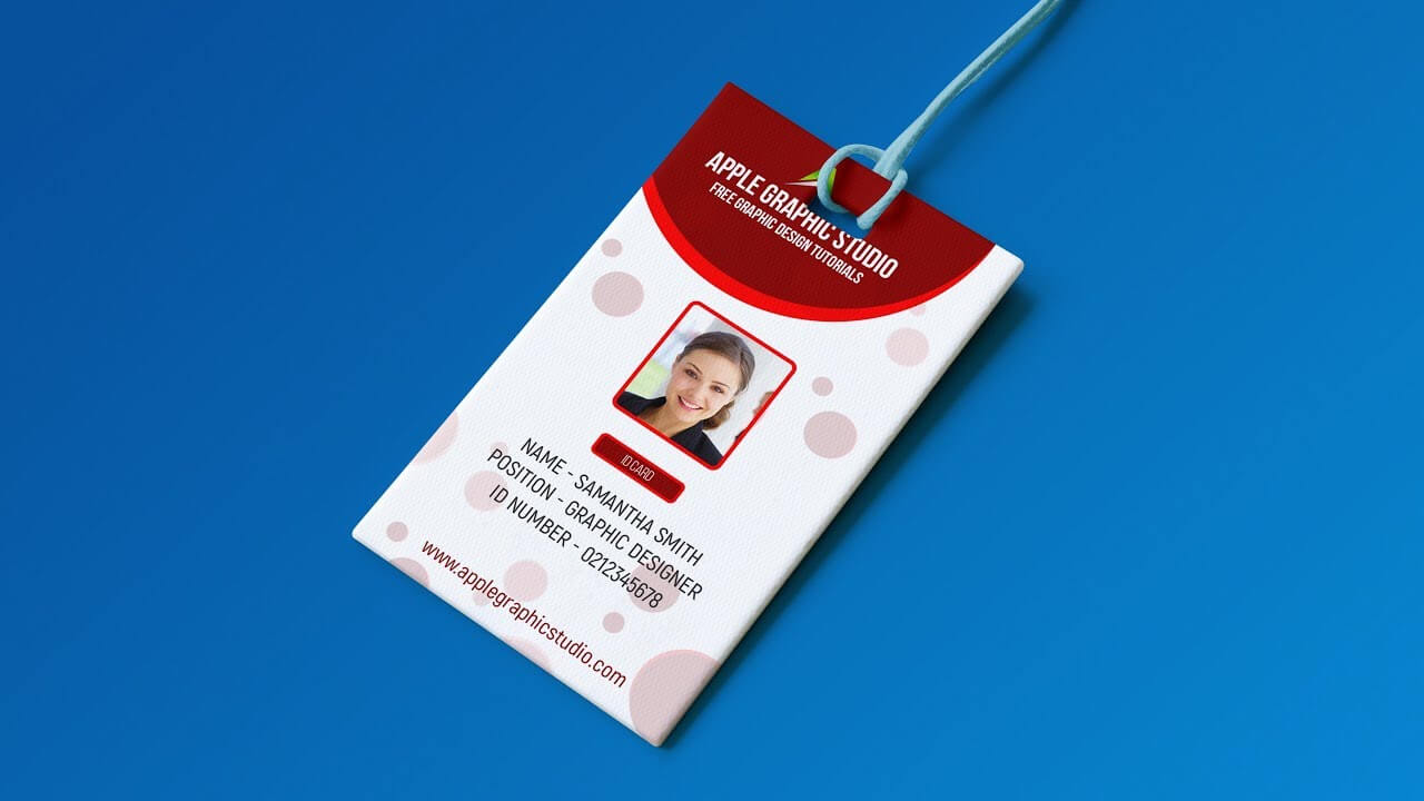Create Professional Id Card Template – Photoshop Tutorial Within Portrait Id Card Template