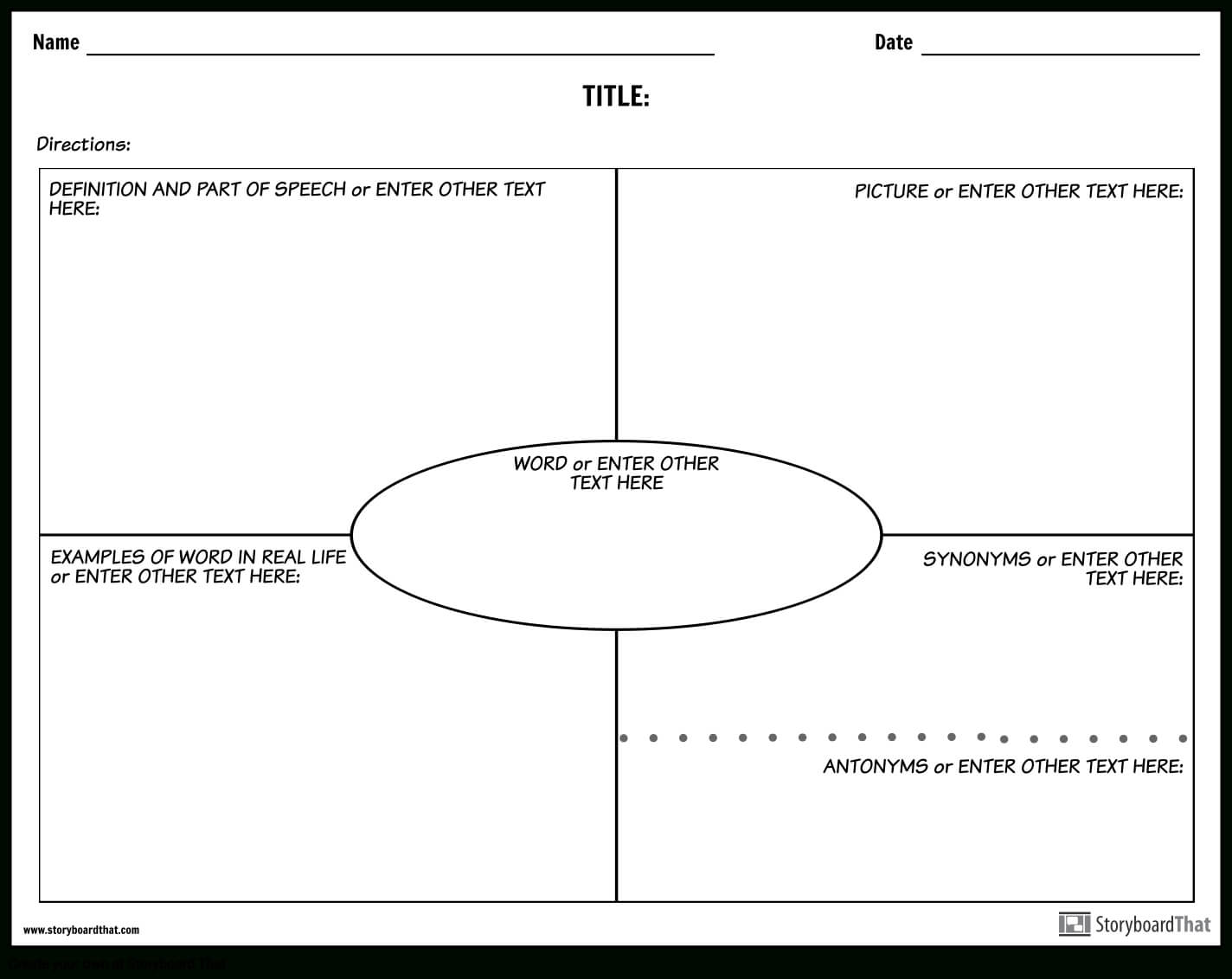 Create Vocabulary Worksheets | Vocabulary Templates With Regard To Vocabulary Words Worksheet Template