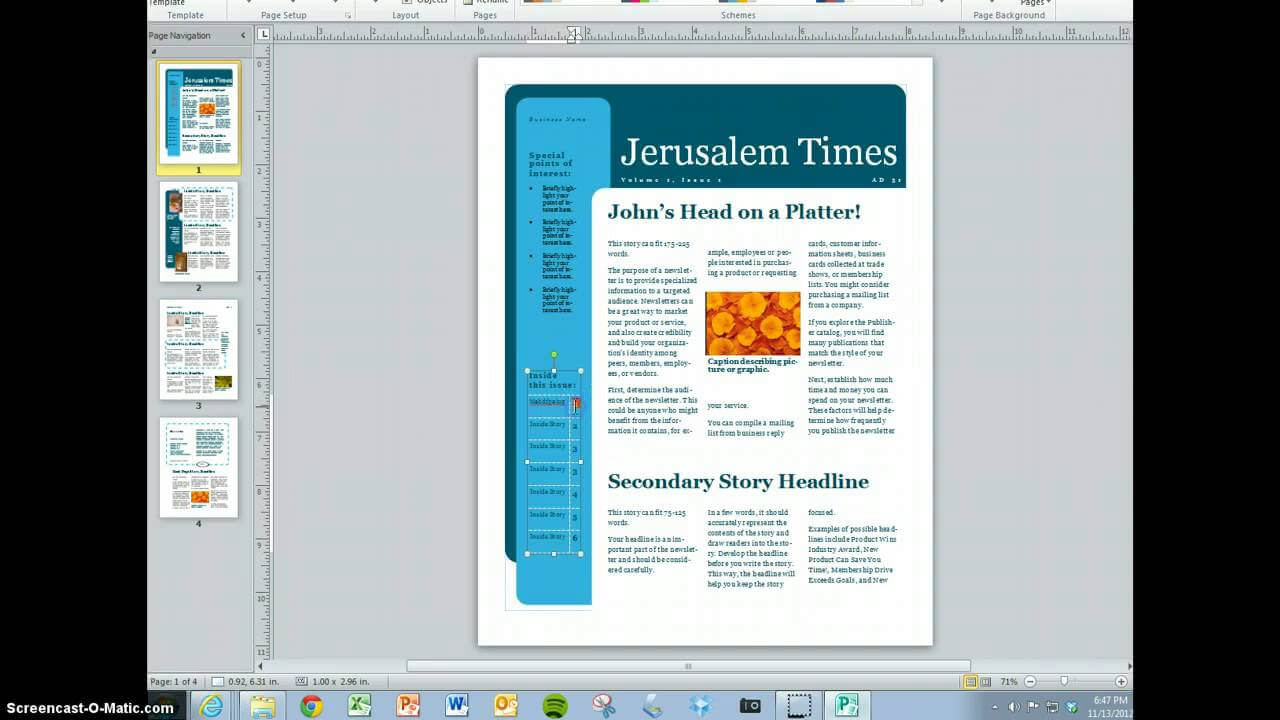 Create Your Magazine Content Inside Magazine Template For Microsoft Word