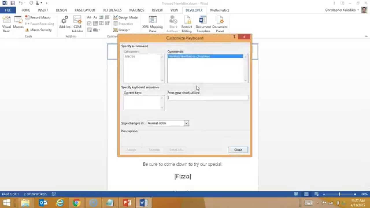 Creating A Macro Enabled Template In Word Intended For Word Macro Enabled Template