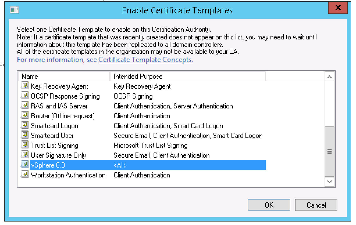 Creating A Vsphere 6 Certificate Template In Active Pertaining To Workstation Authentication Certificate Template