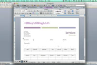 Creating Invoices Using Microsoft Word Templates regarding How To Insert Template In Word