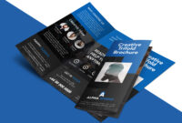 Creative Agency Trifold Brochure Free Psd Template inside 3 Fold Brochure Template Psd