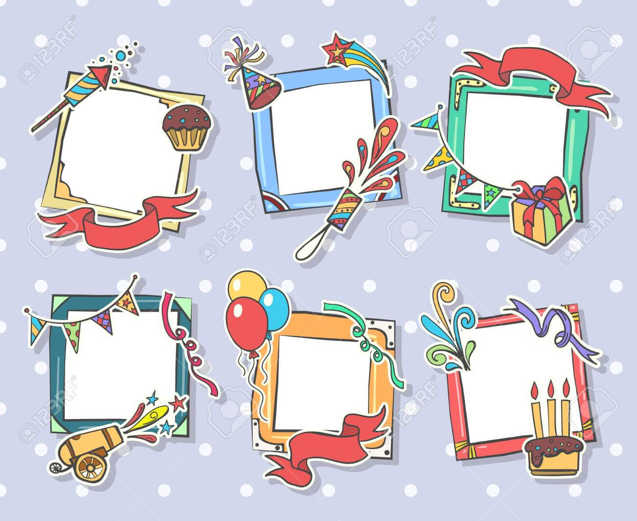 Creative Birthday Frames. Kids Birthday Photo Art Frame Set,.. Inside Birthday Card Collage Template