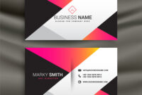 Creative Bright Business Card Design Template with regard to Calling Card Free Template