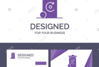 Creative Business Card And Logo Template Bin, Recycling with Bin Card Template