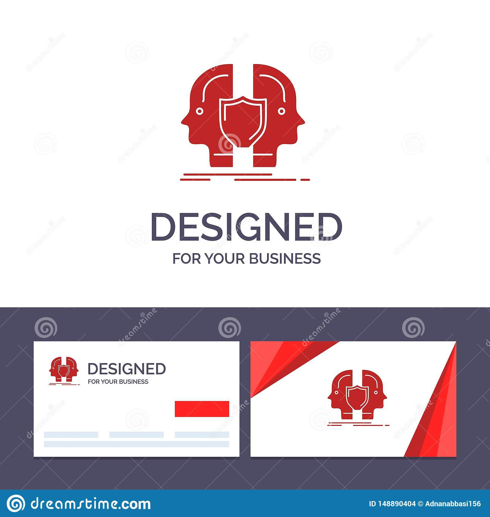Creative Business Card And Logo Template Man, Face, Dual pertaining to Shield Id Card Template