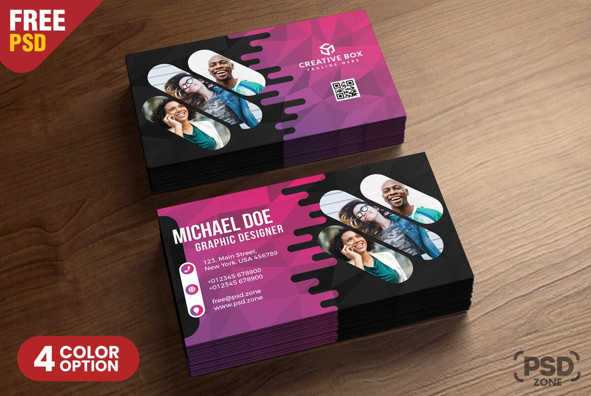 Creative Business Card Psd Templates - Psd Zone pertaining to Creative Business Card Templates Psd