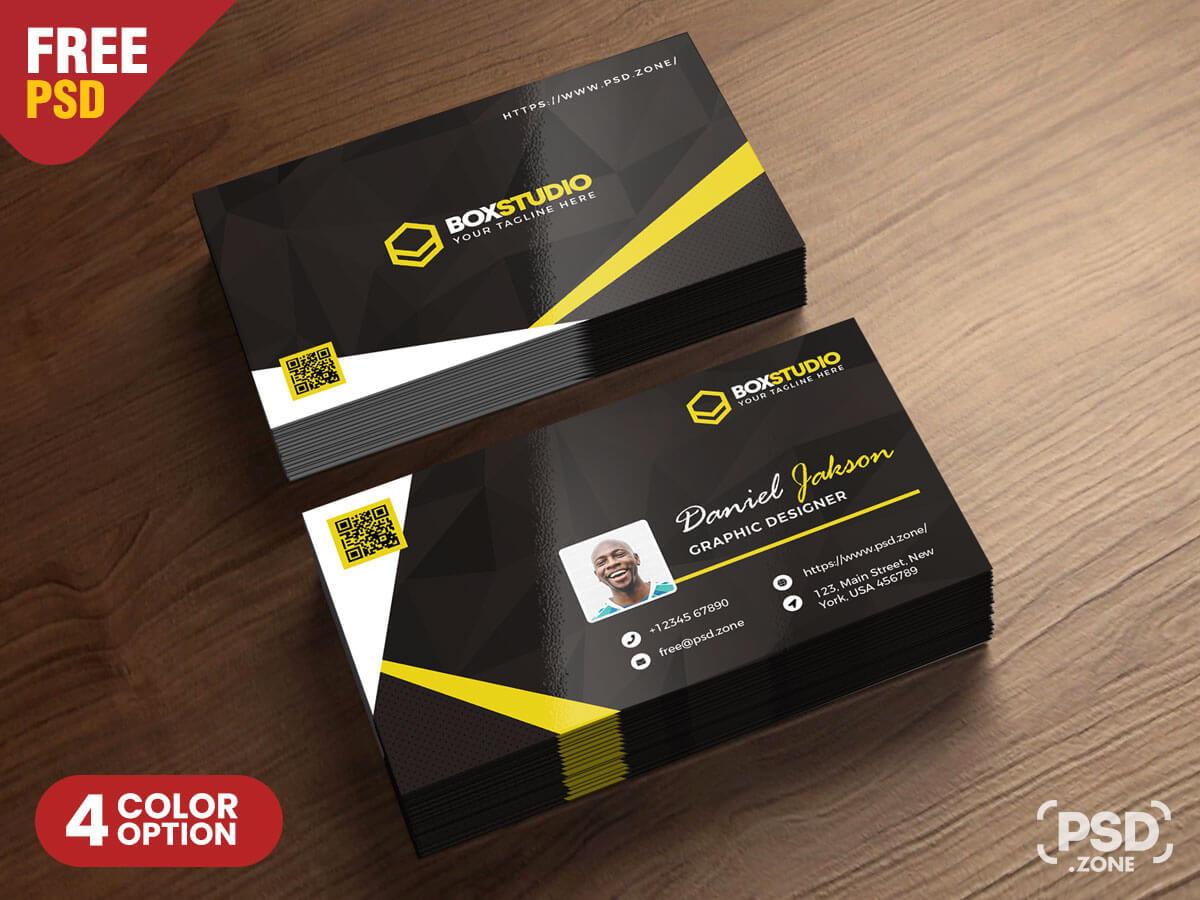 Creative Business Card Template Psd - Psd Zone in Creative Business Card Templates Psd
