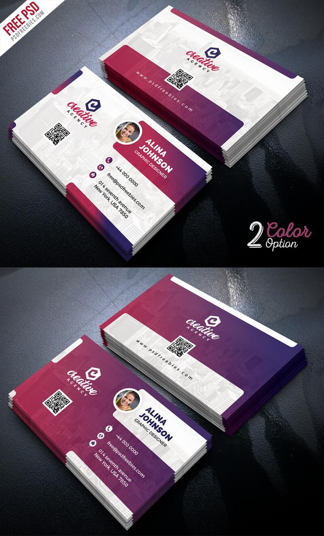 Creative Business Card Template Psd Set | Psdfreebies Throughout Creative Business Card Templates Psd