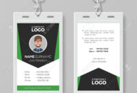 Creative Corporate Id Card Template With Green Details intended for Work Id Card Template