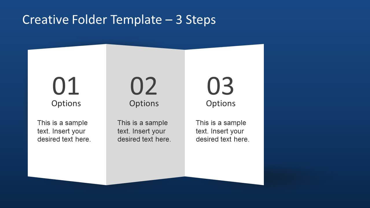 Creative Folder Template Layout For Powerpoint In Brochure 4 Fold Template