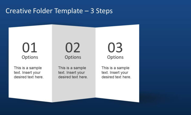 Creative Folder Template Layout For Powerpoint with regard to 4 Fold Brochure Template