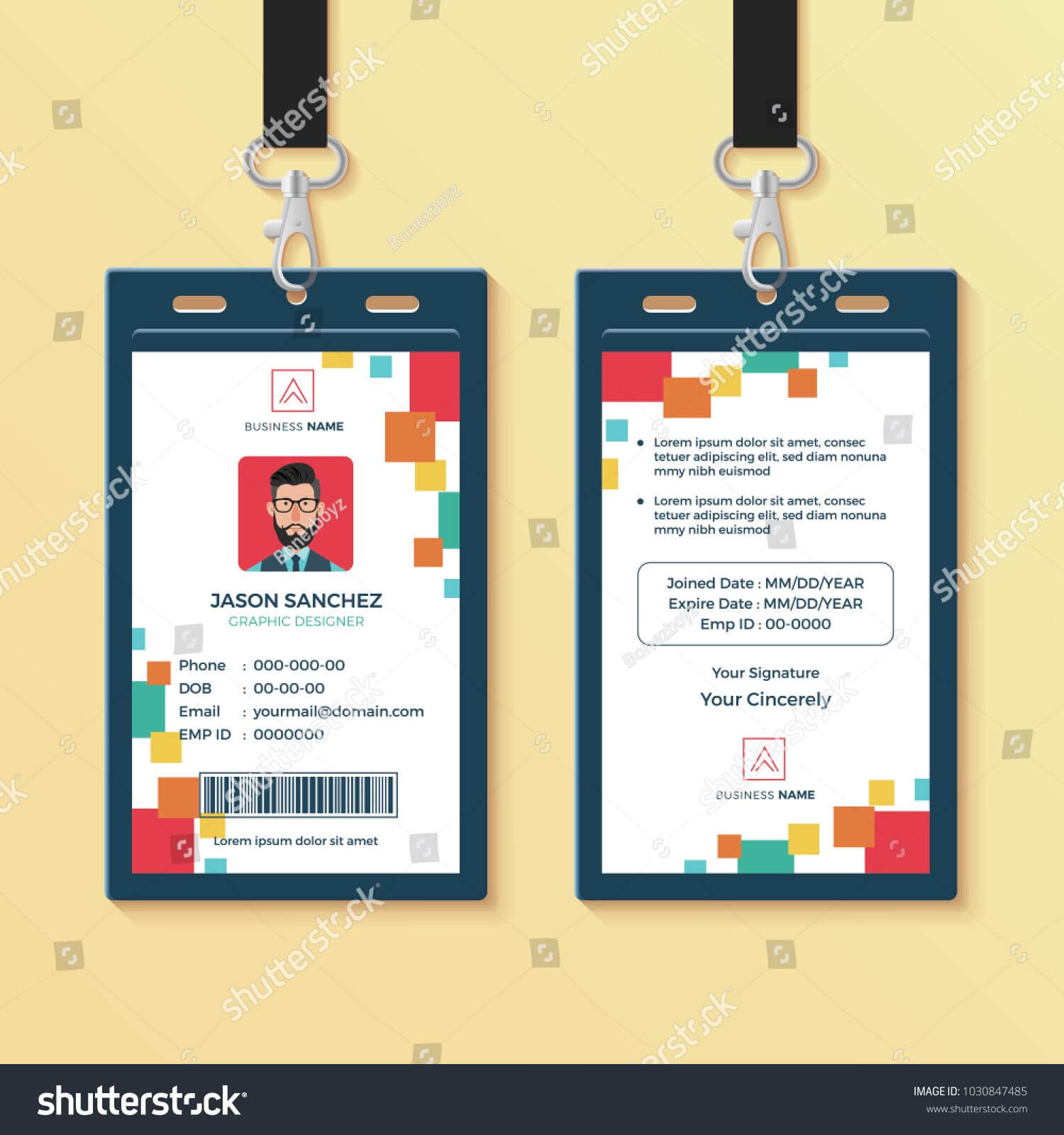 Creative Id Card Template, Perfect For Any Types Of Agency In Media Id Card Templates