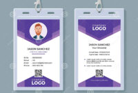 Creative Id Card Template Stock Vector. Illustration Of within Conference Id Card Template