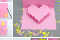 Creative Ideas – Diy Pixel Heart Popup Card Within Pixel Heart Pop Up Card Template