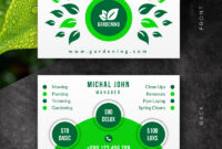 Creative Landscaping Business Card Corporate Identity Template inside Landscaping Business Card Template
