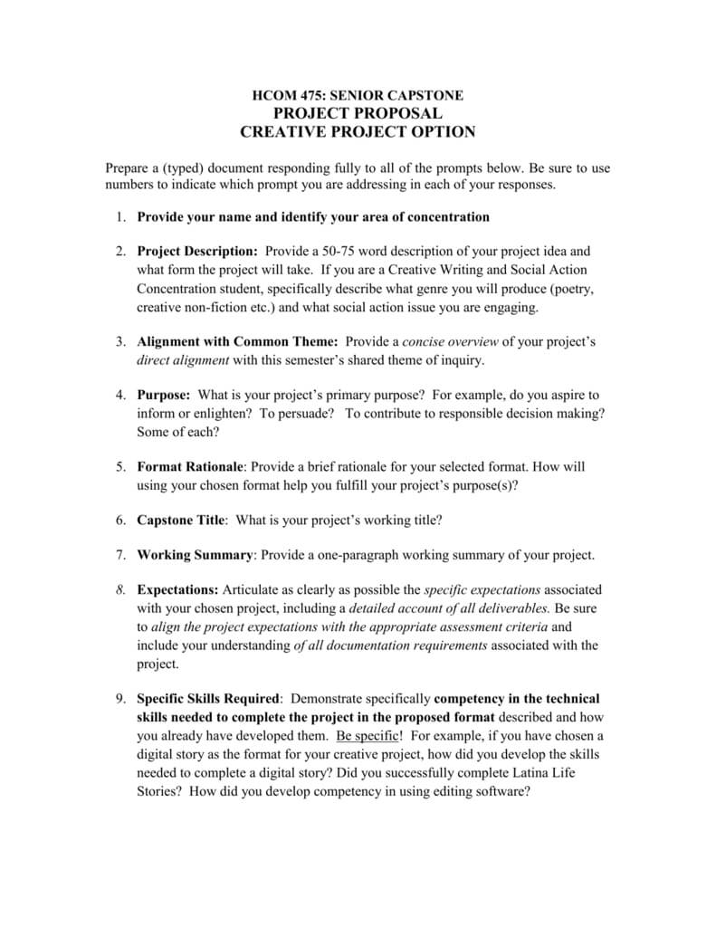 Creative Project Proposal Template inside Software Project Proposal Template Word