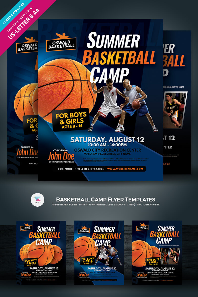 Creative Ready Made Sports Camp Flyer Templates | Entheosweb Intended For Basketball Camp Brochure Template