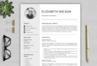 Creative Resume Template, Cv Template, Resume Template Word inside Resume Templates Word 2013