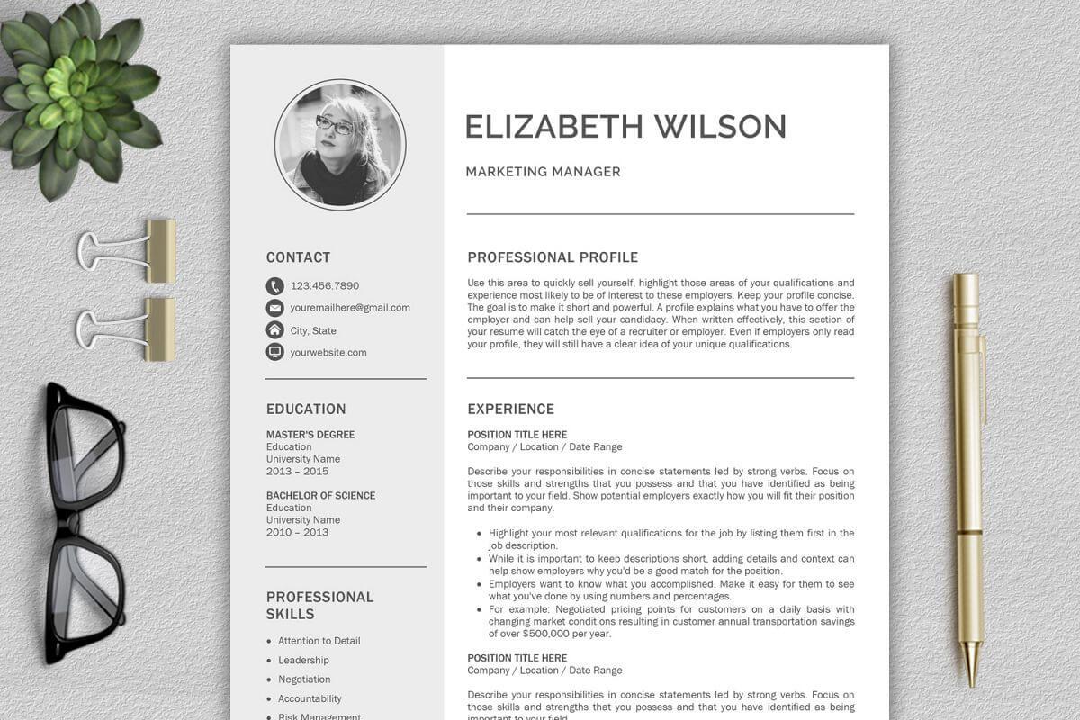 Creative Resume Template, Cv Template, Resume Template Word inside Resume Templates Word 2013