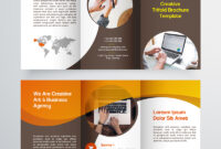 Creative Trifold Brochure Template. 2 Color Styles Corporate Identity  Template in Membership Brochure Template