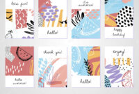 Creative Tropical Summer Cards Trendy Style Collage Hand in Birthday Card Collage Template