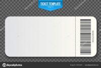 Creative Vector Illustration Of Empty Ticket Template Mockup inside Blank Train Ticket Template