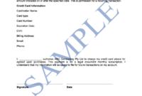 Credit Card Authorisation Form – Free Template | Sample throughout Credit Card Authorisation Form Template Australia