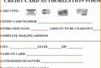 Credit Card Authorization Form Template | Template Business for Authorization To Charge Credit Card Template