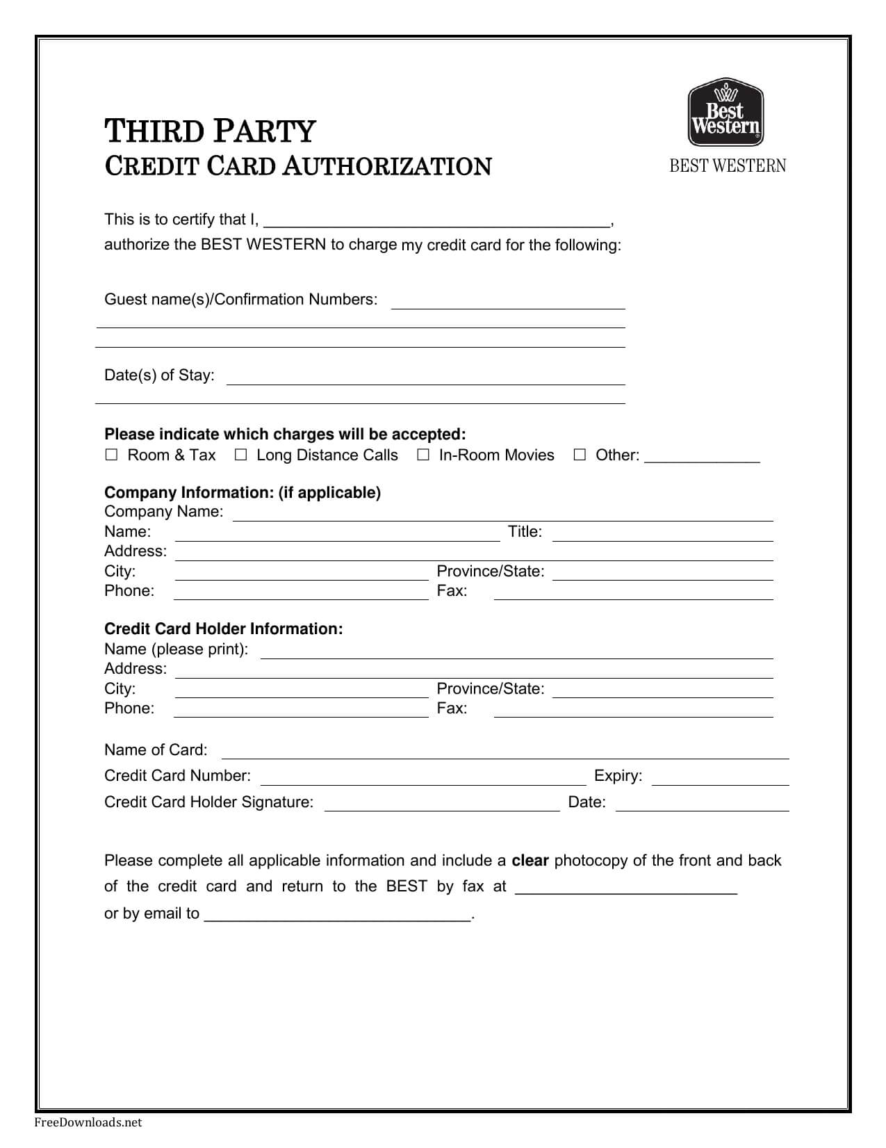 Credit Card Authorization Forms – Cnbam throughout Authorization To Charge Credit Card Template
